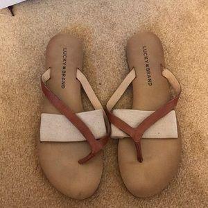Lucky Brand flip flops